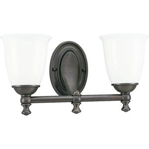 P3028-74:  Venetian Bronze Two-Light Bath Fixture