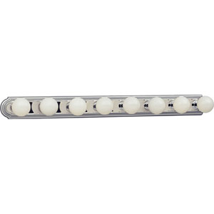 P3040-15:  Broadway Polished Chrome Eight-Light Bath Fixture