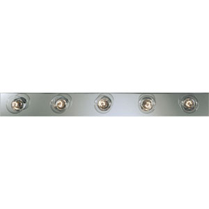 Broadway Polished Chrome Five-Light Bath Fixture