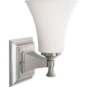 P3131-09:  Fairfield Brushed Nickel One-Light Bath Fixture