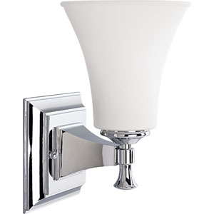 P3131-15:  Fairfield Polished Chrome One-Light Bath Fixture
