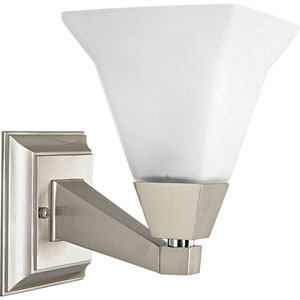 P3135-09:  Glenmont Brushed Nickel One-Light Bath Fixture