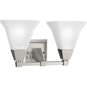 P3136-09:  Glenmont Brushed Nickel Two-Light Bath Fixture