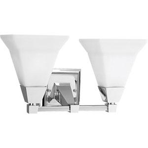 P3136-15:  Glenmont Polished Chrome Two-Light Bath Fixture