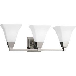 P3137-09:  Glenmont Brushed Nickel Three-Light Bath Fixture