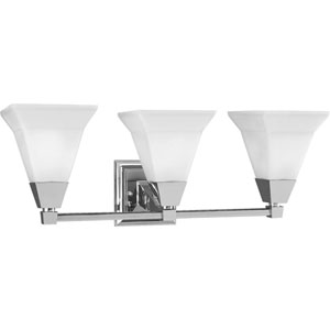 P3137-15:  Glenmont Polished Chrome Three-Light Bath Fixture