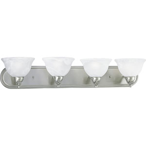 P3156-09EBWB:  Avalon Brushed Nickel Four-Light Energy Star Bath Fixture