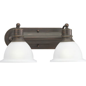 P3162-20:  Madison Antique Bronze Two-Light Bath Fixture