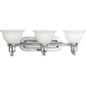 P3163-15:  Madison Polished Chrome Three-Light Bath Fixture