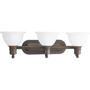 P3163-20:  Madison Antique Bronze Three-Light Bath Fixture