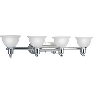 P3164-15:  Madison Polished Chrome Four-Light Bath Fixture