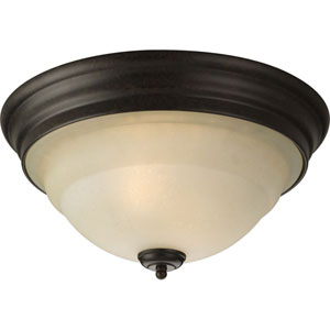P3184-77:  Torino Forged Bronze Two-Light Ceiling Light