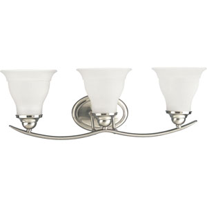 P3192-09:  Trinity Brushed Nickel Three-Light Bath Fixture