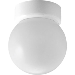 Glass Globes White One-Light Flush Mount with White Glass