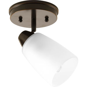 Wisten Antique Bronze One-Light Directional Convertible Wall Spot Light with Etched Glass