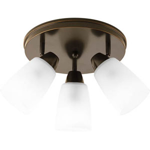 Wisten Antique Bronze Three-Light 19.43-Inch Directional Convertible Wall Spot Light with Etched Glass