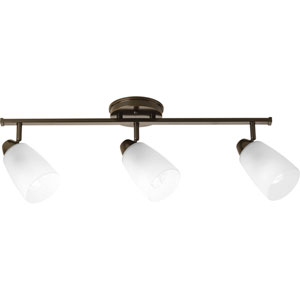 Wisten Antique Bronze Three-Light 7.93-Inch Directional Convertible Wall Spot Light with Etched Glass Shade