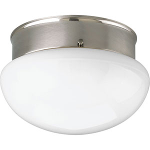 P3410-09WB Fitter Brushed Nickel 9.5-Inch Two-Light Energy Star Fluorescent Flush Mount