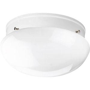 P3410-30 White 9.5-Inch Two-Light Flush Mount
