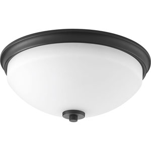 P3423-31 Replay Black 14-Inch Two-Light Flush Mount