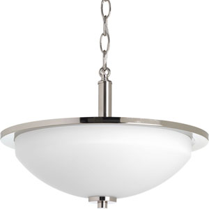 P3424-104 Replay Polished Nickel 15-Inch Two-Light Pendant