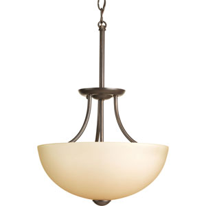 Random Antique Bronze Two-Light Semi-Flush Mount with Light Umber Etched Glass Shade