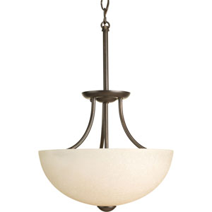 Random Antique Bronze Two-Light Semi-Flush Mount with Etched Umber Linen Glass Shade