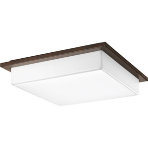 P3432-2030K9 Transit Antique Bronze 18-Inch Three-Light Energy Star LED Flush Mount
