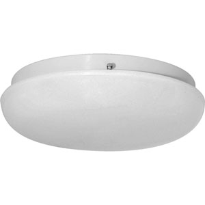 Round Clouds White Two-Light Flush Mount with White Acrylic Diffuser