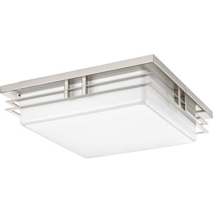 P3448-0930K9 Helm Brushed Nickel 14-Inch Two-Light Energy Star LED Flush Mount