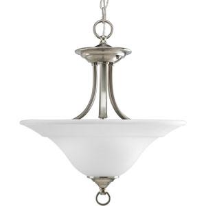 P3473-09:  Trinity Brushed Nickel Two-Light Semi-Flush