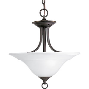 P3473-20:  Trinity Antique Bronze Two-Light Semi-Flush