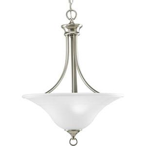 P3474-09:  Trinity Brushed Nickel Three-Light Pendant