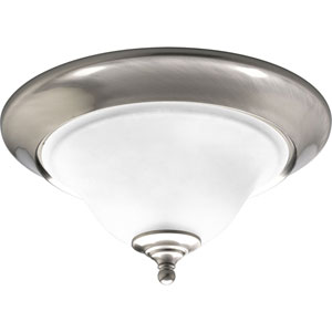 P3476-09:  Trinity Brushed Nickel Two-Light Ceiling Light
