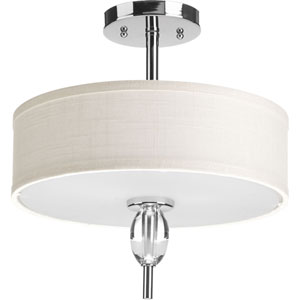 P3495-15 Status Polished Chrome 13-Inch Two-Light Semi Flush Mount