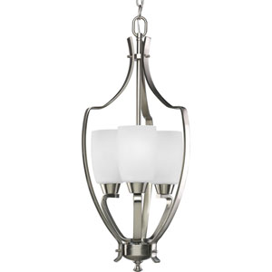 Wisten Brushed Nickel Three-Light Lantern Pendant with Etched Glass