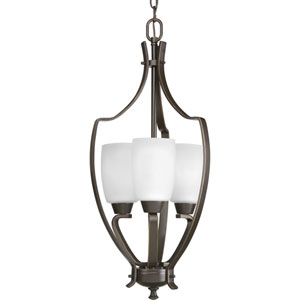 Wisten Antique Bronze Three-Light Lantern Pendant with Etched Glass