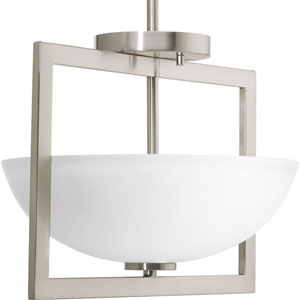 P3557-09 Harmony Brushed Nickel 14-Inch Two-Light Semi Flush Mount