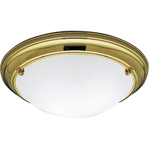P3562-10EB:  Eclipse Polished Brass Two-Light Energy Star Ceiling Light