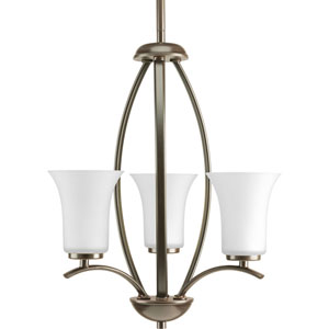 P3587-20W Joy Antique Bronze Three-Light Chandelier
