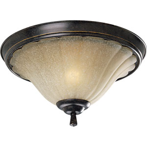 P3598-84:  Le Jardin Espresso Two-Light Ceiling Light