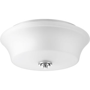 P3633-15 Cascadia Polished Chrome Two-Light Ceiling Mount