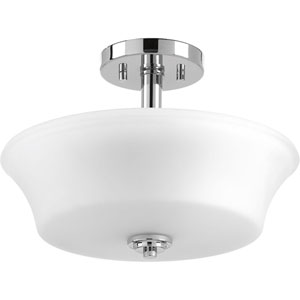 P3644-15 Cascadia Polished Chrome Two-Light Semi Flush Mount