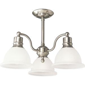 P3663-09:  Madison Brushed Nickel Three-Light Semi-Flush