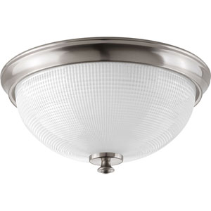 P3667-09 Lucky Brushed Nickel Three-Light Flush Mount
