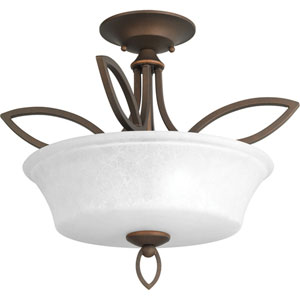 P3674-102 Monogram Roasted Java Two-Light Semi Flush Mount