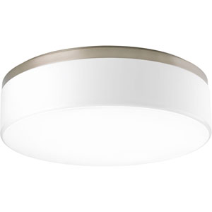 P3675-0930K9 Maier Brushed Nickel 18-Inch Three-Light LED Flush Mount
