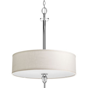 P3680-15 Status Polished Chrome 22-Inch Four-Light Foyer Drum Pendant