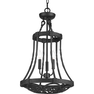 P3691-71 Enclave Gilded Iron Three-Light Pendant