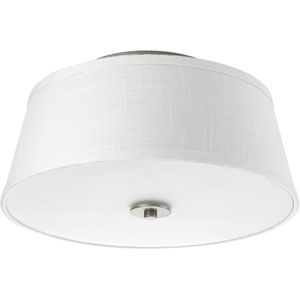 P3739-09 Arden Brushed Nickel Two-Light Ceiling Mount